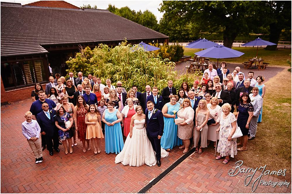Big group fun at Oak Farm in Cannock by Cannock Wedding Photographer Barry James
