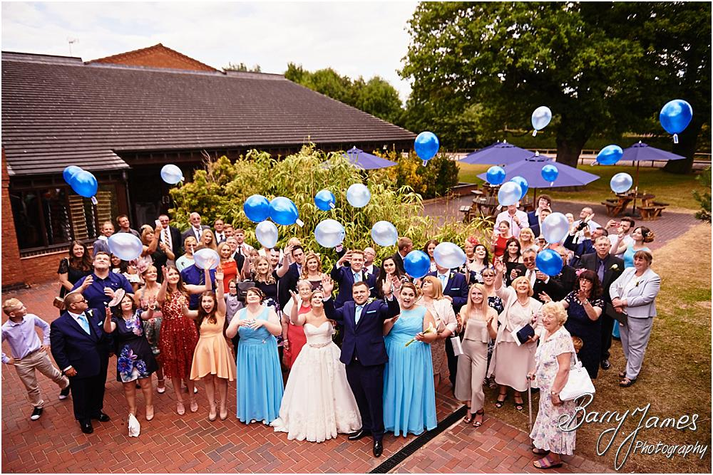 Beautiful mass balloon release at Oak Farm in Cannock by Cannock Wedding Photographer Barry James