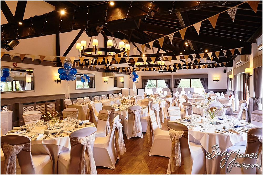Stunning venue decor for the wedding breakfast by Venue Creations at Oak Farm in Cannock by Cannock Wedding Photographer Barry James