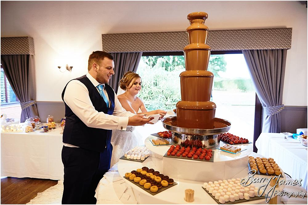 Chocolate fountain fun at Oak Farm in Cannock by Cannock Wedding Photographer Barry James