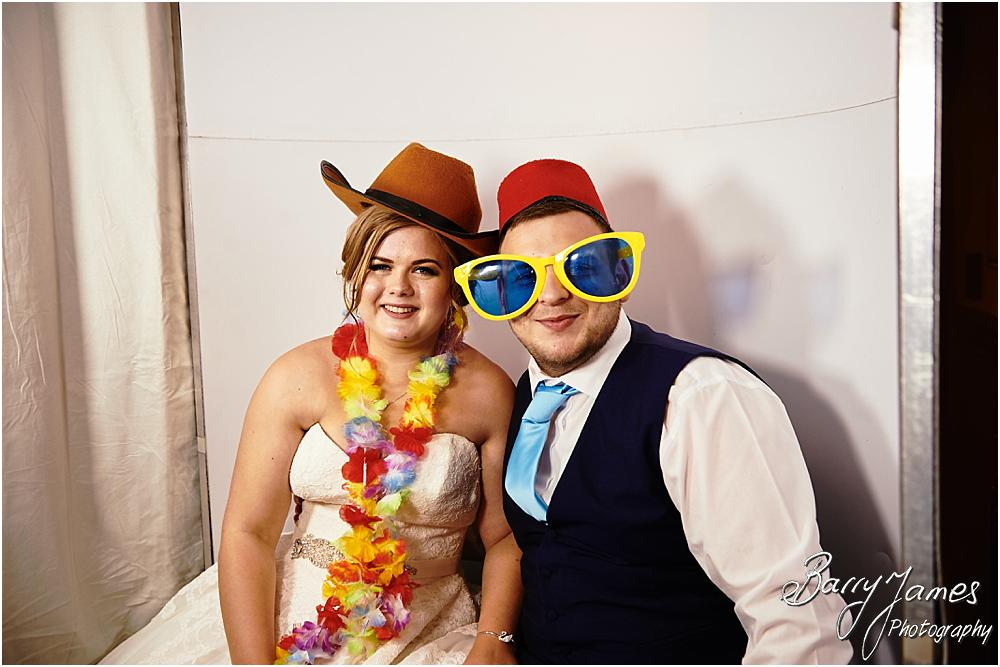 Photo booth fun at Oak Farm in Cannock by Cannock Wedding Photographer Barry James
