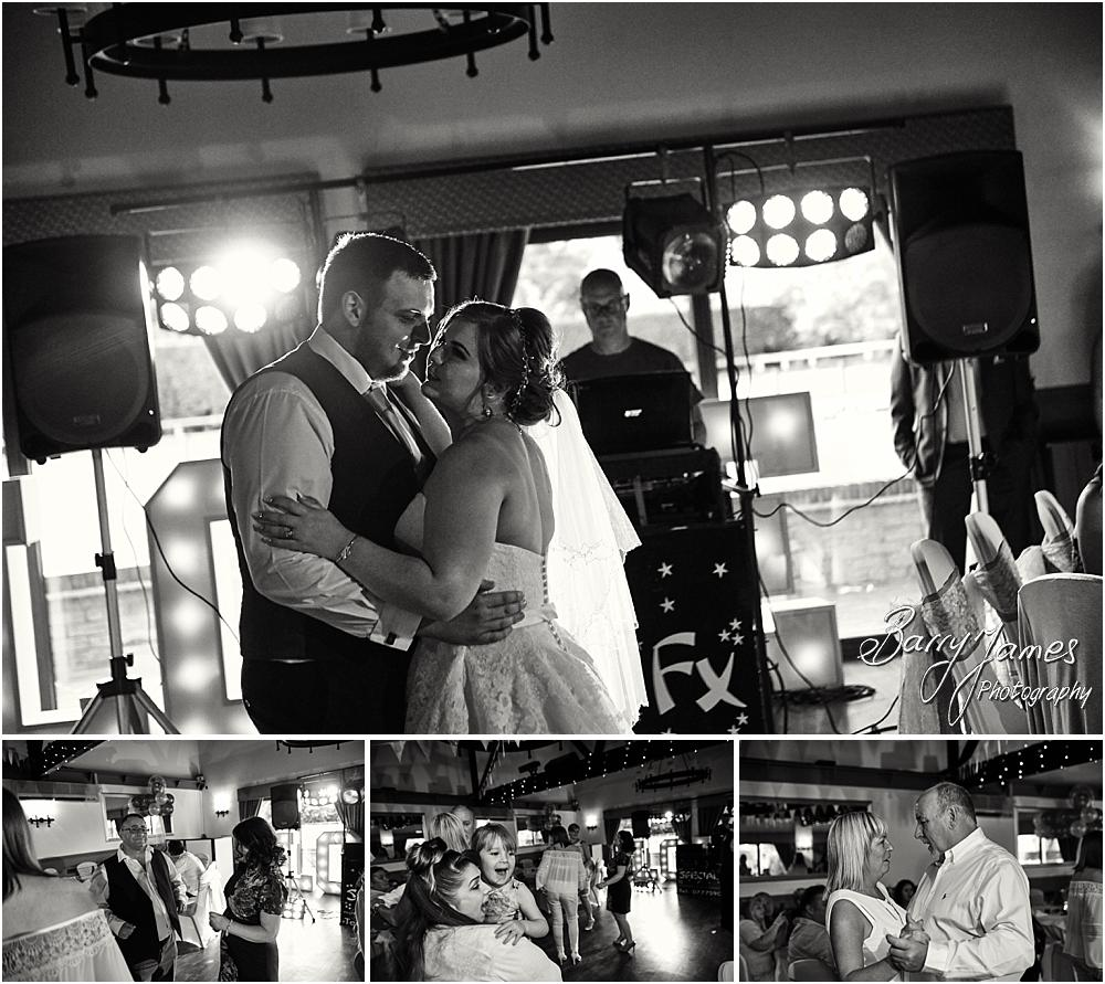 Creative candid photographs of the first dance at Oak Farm in Cannock by Cannock Wedding Photographer Barry James