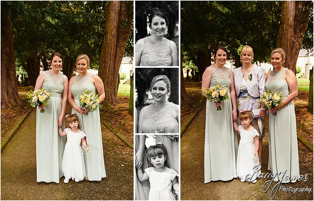 Capturing the arrival of the beautiful bridal party at Castle Church Stafford by Stafford Wedding Photographer Barry James