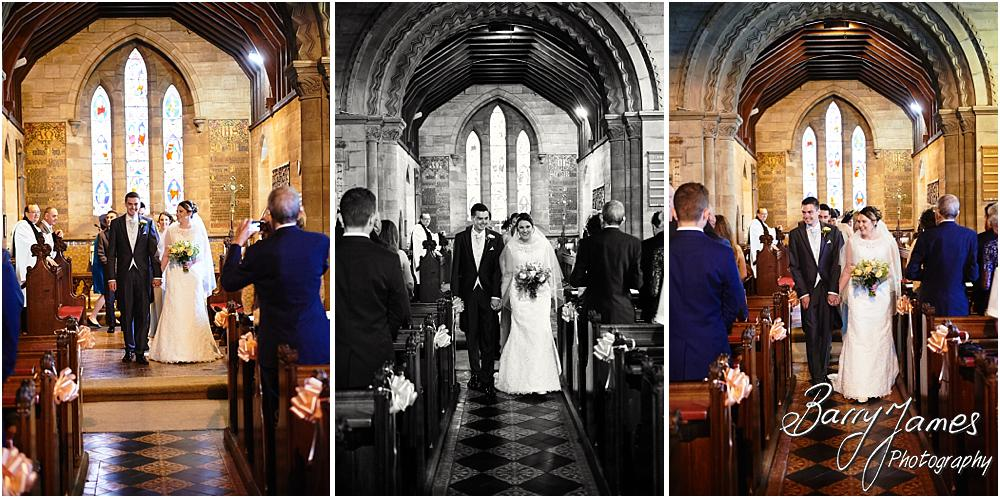 Unobtrusive photographs telling the story of the wedding ceremony at Castle Church Stafford by Stafford Wedding Photographer Barry James