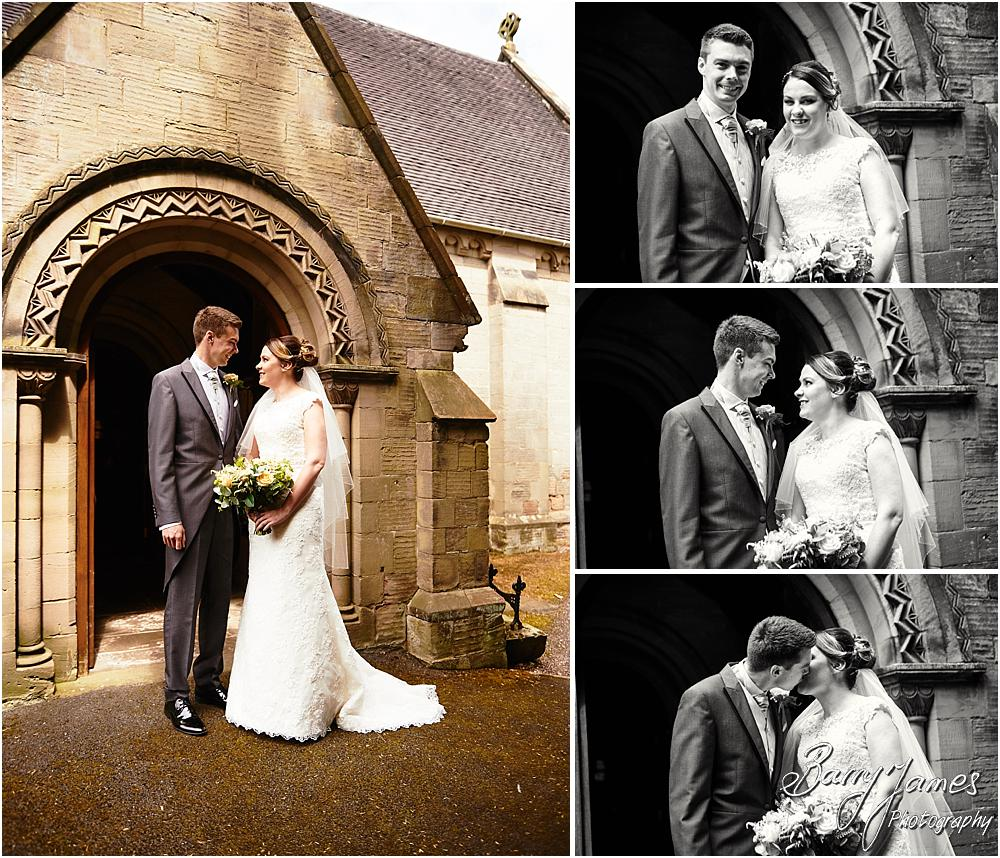 Creative wedding photographs at Castle Church Stafford by Stafford Wedding Photographer Barry James