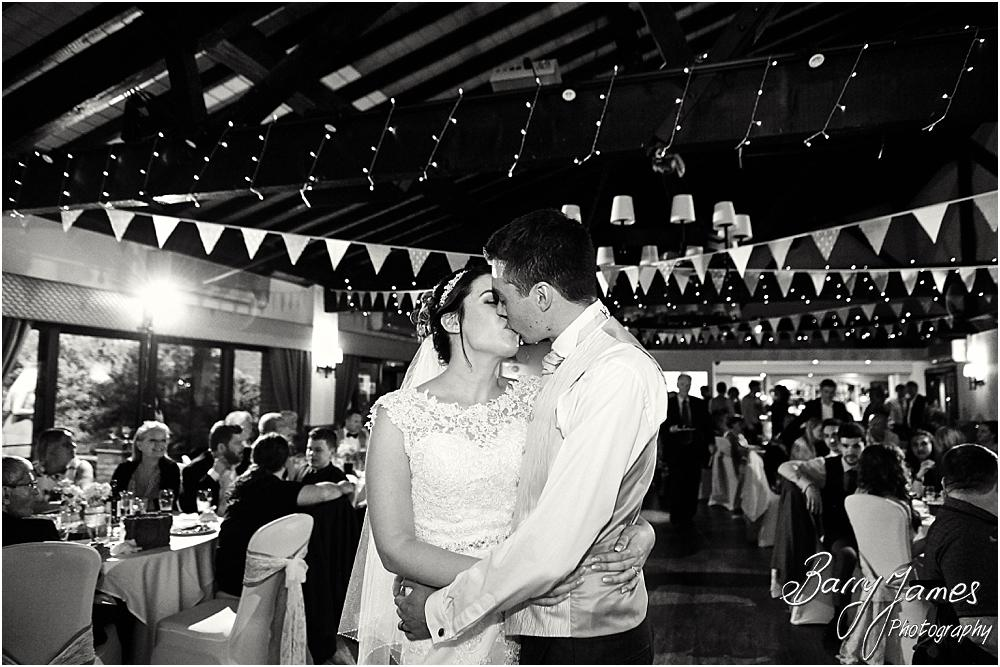 Creative photographs of the first dance at Oak Farm Cannock by Stafford Wedding Photographer Barry James