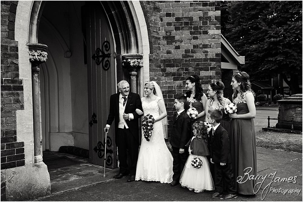 Capturing the bridal party arriving for the ceremony at St Michaels Church Pelsall by Walsall Wedding Photographer Barry James