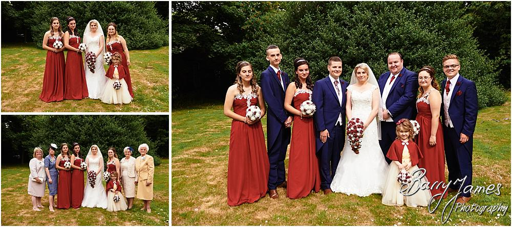 Contemporary relaxed family portraits following the wedding at St Michaels Church Pelsall by Walsall Wedding Photographer Barry James