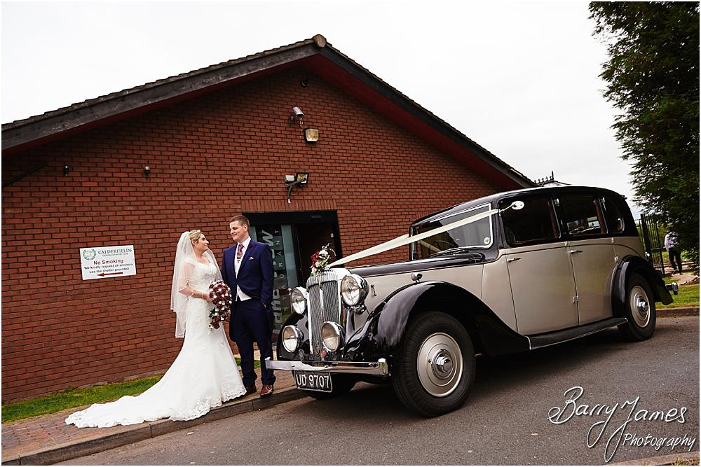 Arriving in style at Calderfields Walsall with Special Day Services captured by Walsall Wedding Photographer Barry James