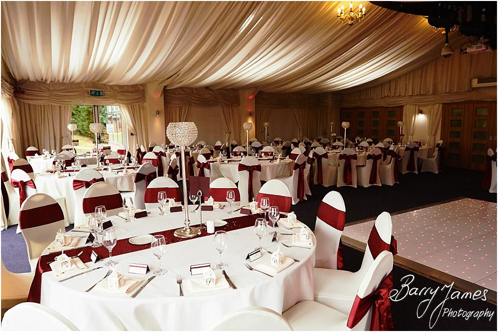 Stunning styling for the wedding breakfast at Calderfields Walsall by Walsall Wedding Photographer Barry James