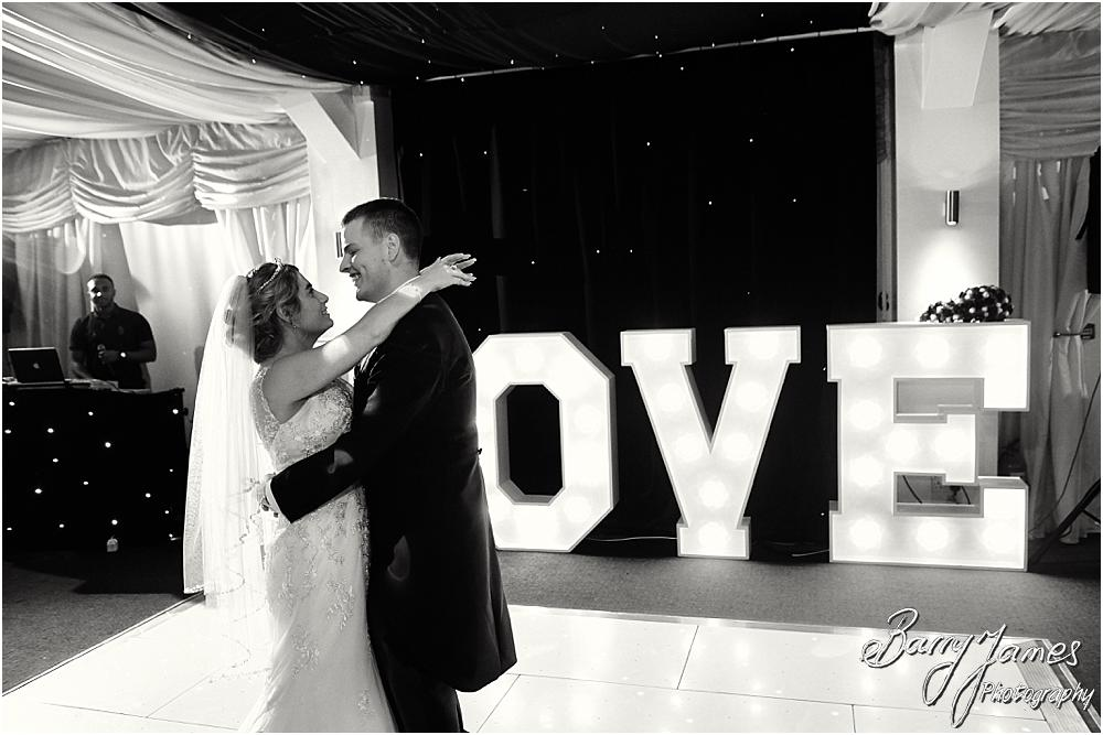 Creative photographs of the first dance at Calderfields Walsall by Walsall Wedding Photographer Barry James