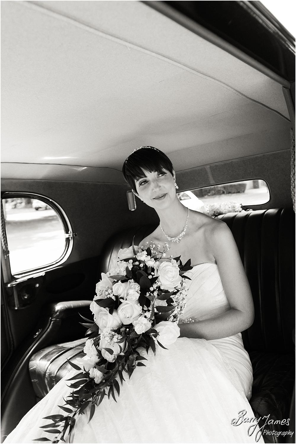 Arriving in style for the wedding at All Saints Church in Bloxwich by Walsall Wedding Photographer Barry James