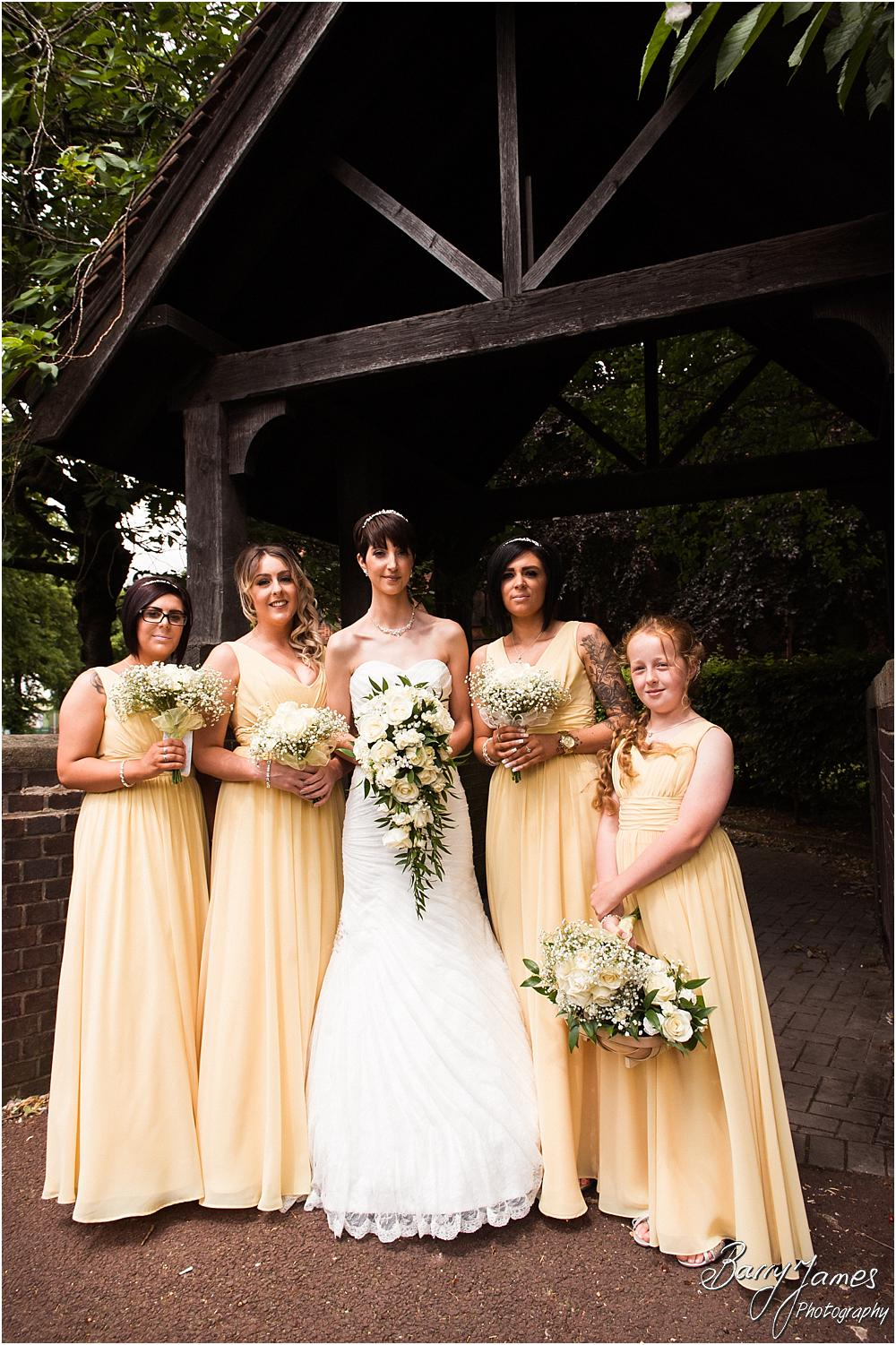 Photographs of the bridal party at All Saints Church in Bloxwich by Walsall Wedding Photographer Barry James