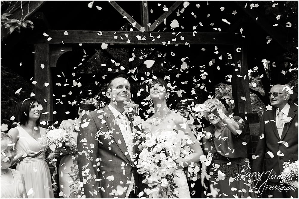 Confetti fun at All Saints Church in Bloxwich by Walsall Wedding Photographer Barry James
