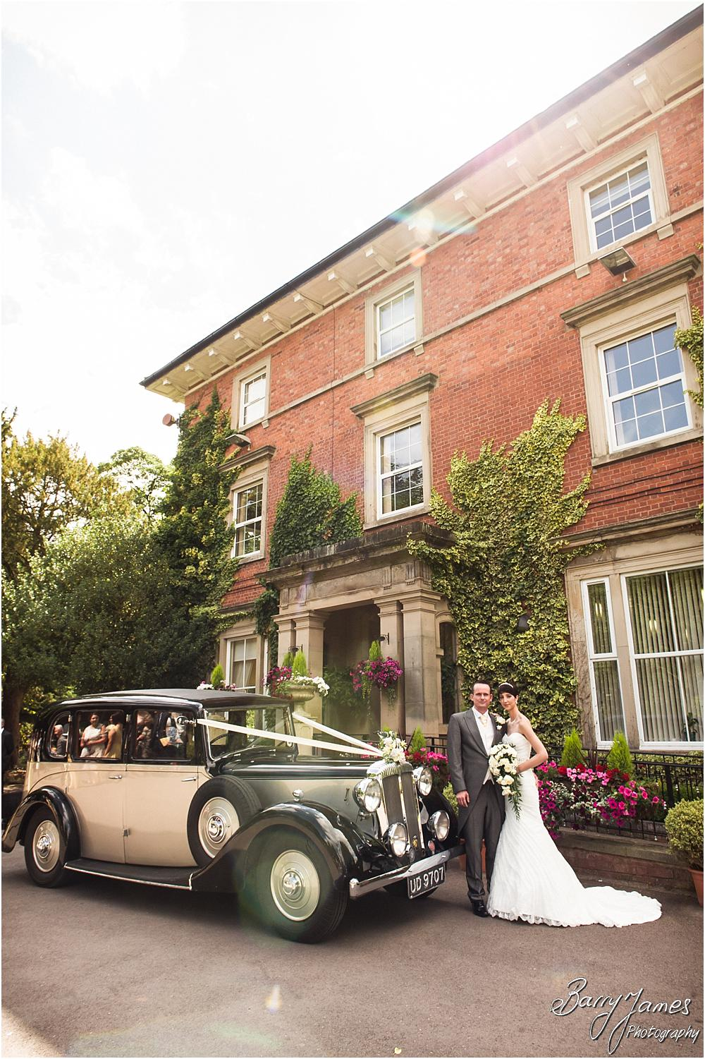Stunning wedding cars for the wedding at Rodbaston Hall in Penkridge by Walsall Wedding Photographer Barry James