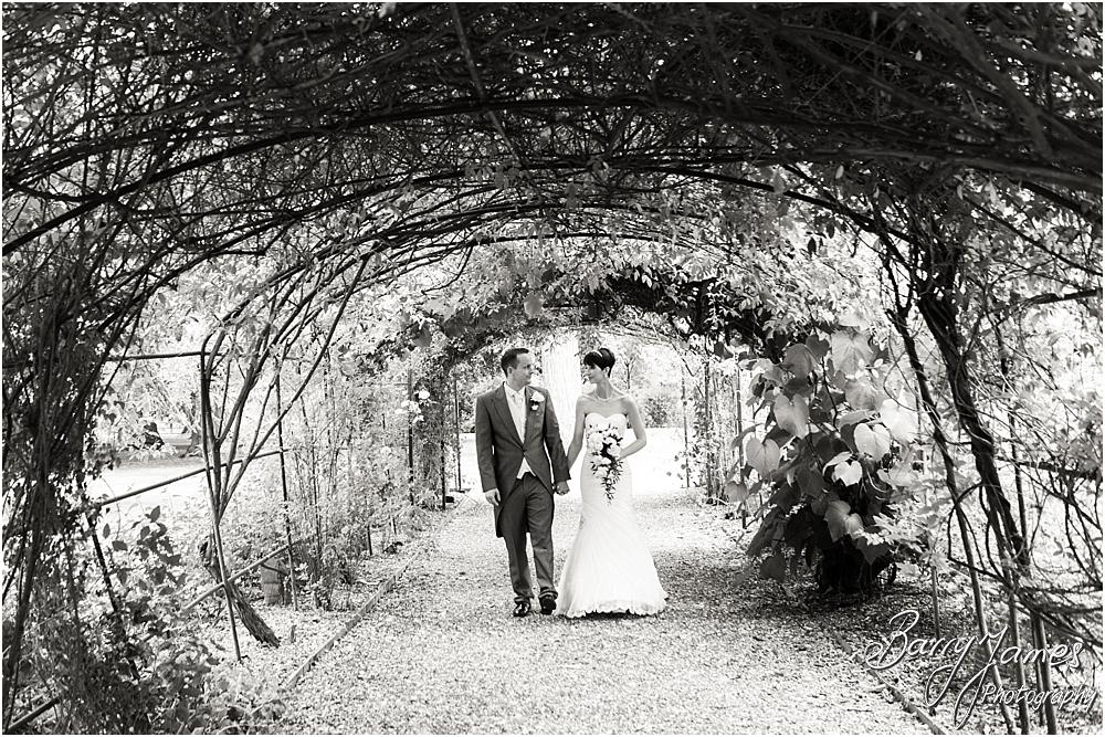 Creative and contemporary portraits of the bride and groom around the beautiful setting of Rodbaston Hall in Penkridge by Walsall Wedding Photographer Barry James
