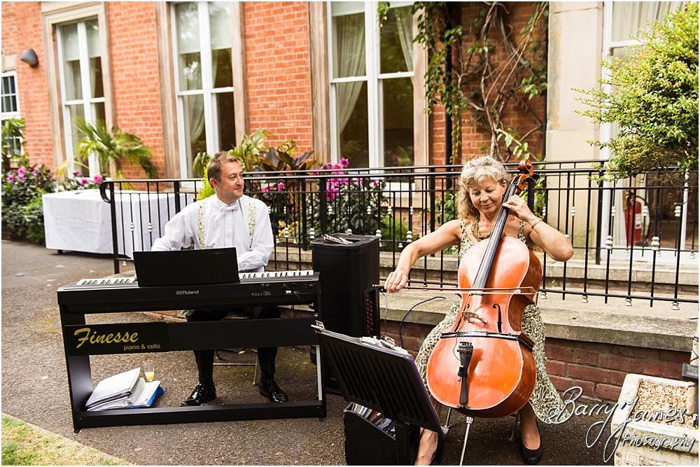 Live wedding music by Finesse Piano and Cello at Rodbaston Hall in Penkridge by Walsall Wedding Photographer Barry James