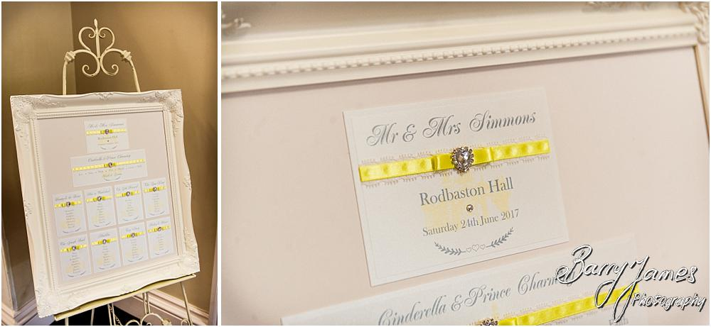 Stunning detailing and styling for the wedding breakfast at Rodbaston Hall in Penkridge by Walsall Wedding Photographer Barry James