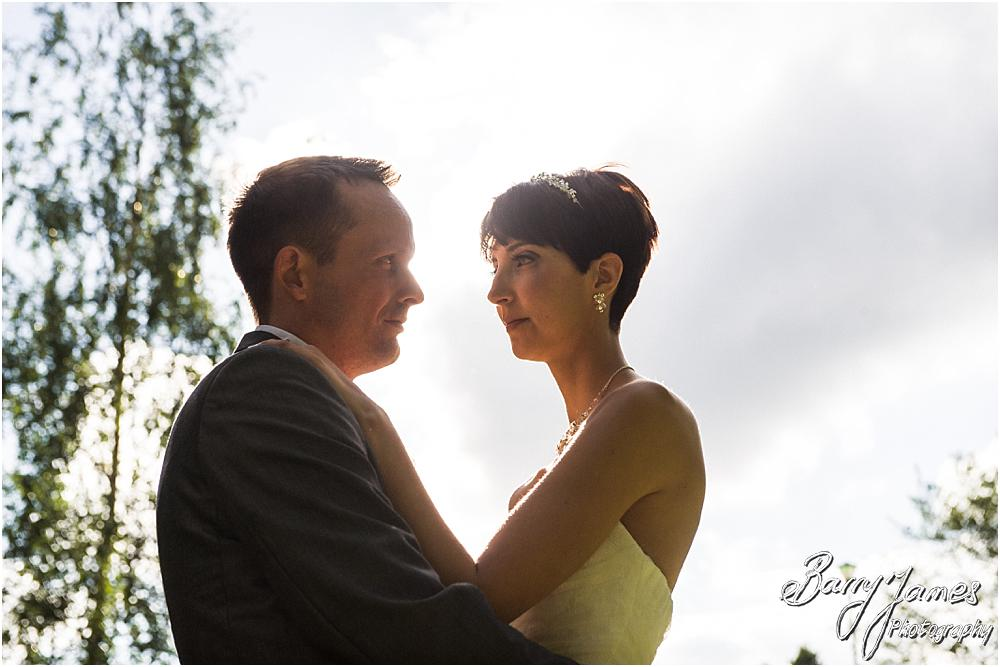 Beautiful golden hour portraits at Rodbaston Hall in Penkridge by Walsall Wedding Photographer Barry James