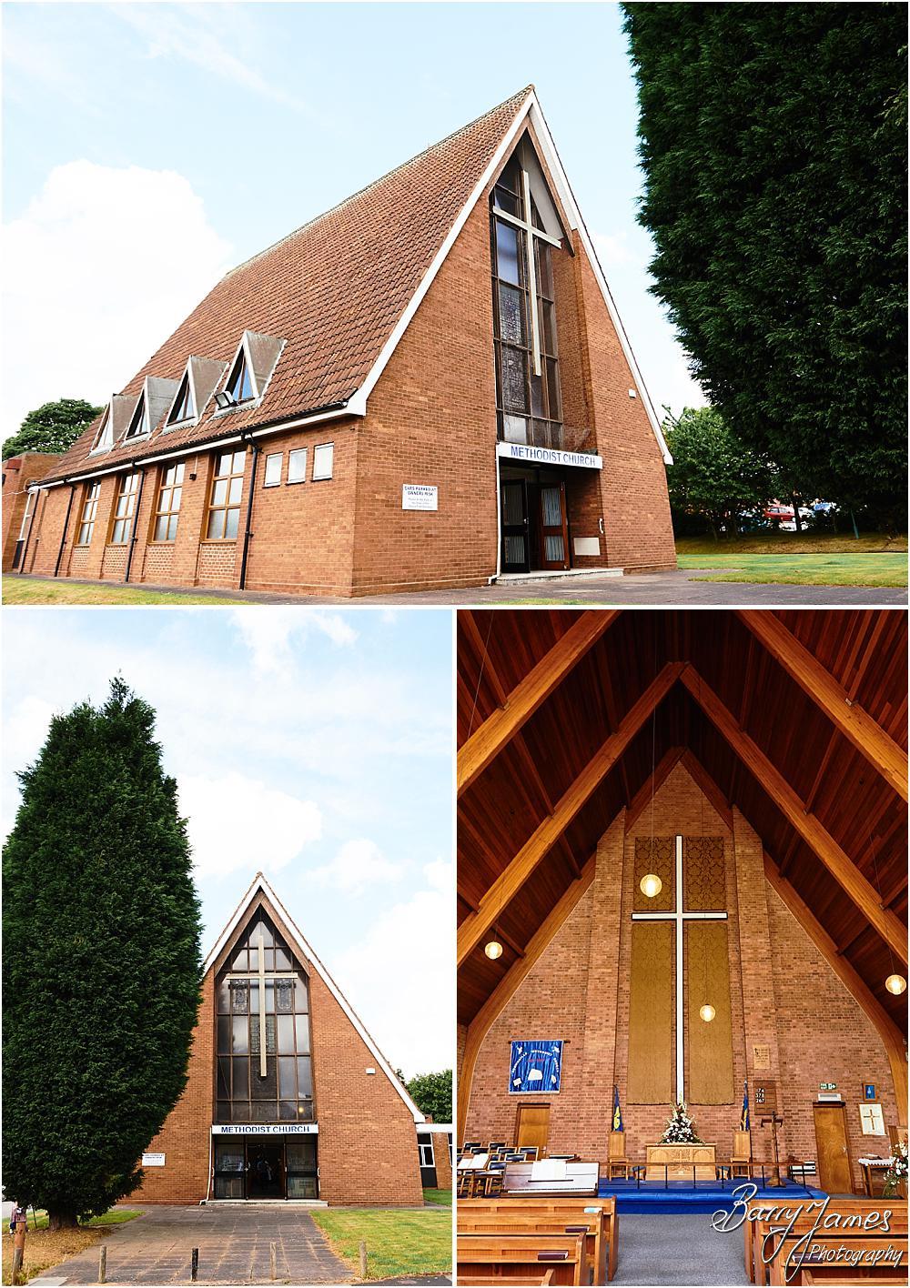 Wedding photographs at Brownhills Methodist Church in Walsall by Walsall Wedding Photographer Barry James
