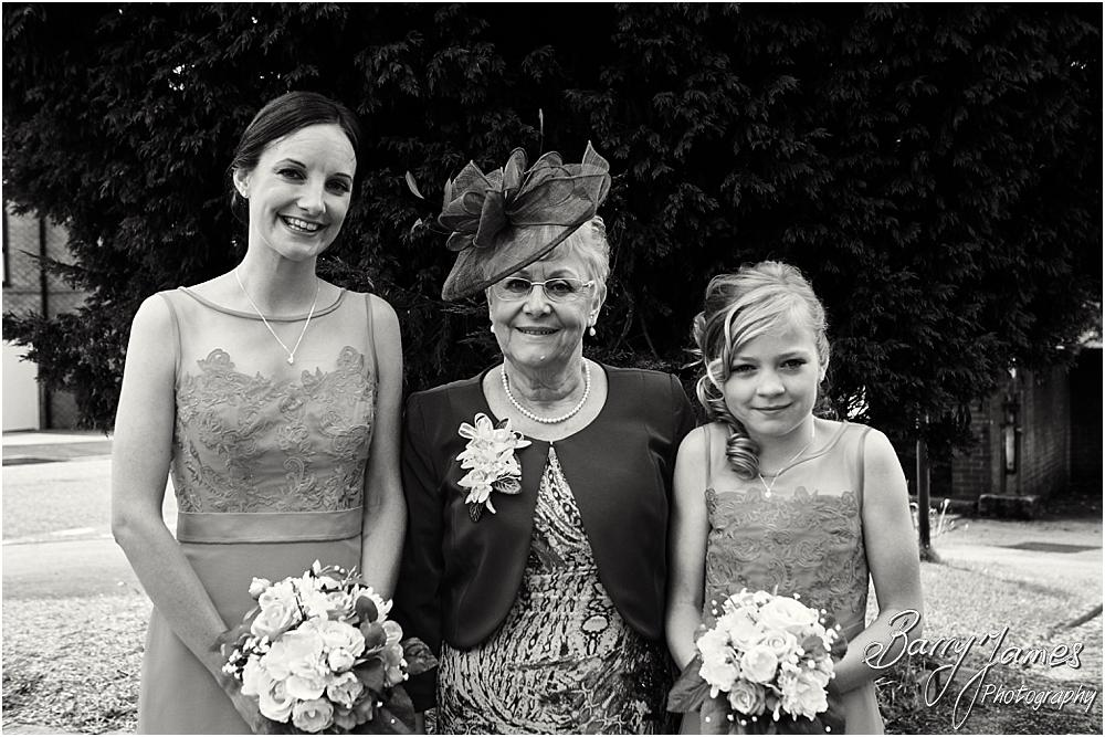 Contemporary portraits of the bridal party at Brownhills Methodist Church in Walsall by Walsall Wedding Photographer Barry James