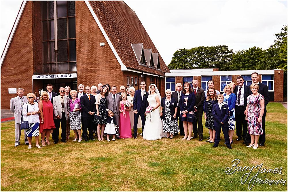 Relaxed family group photographs following the ceremony at Brownhills Methodist Church in Walsall by Walsall Wedding Photographer Barry James