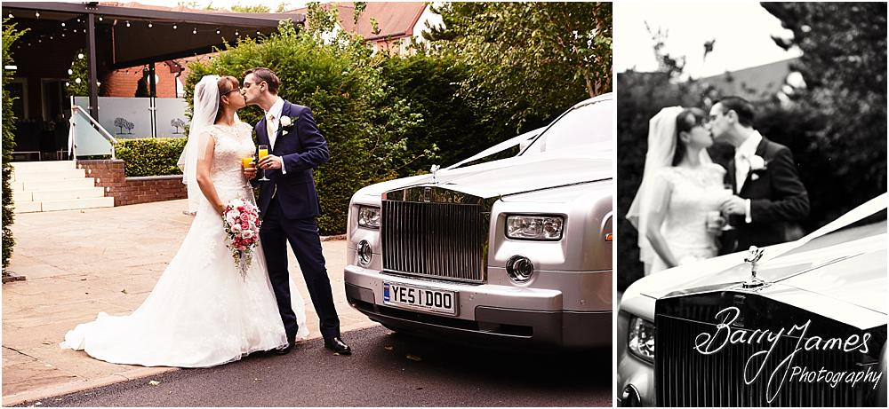 Arriving in style at The Fairlawns in Walsall by Walsall Wedding Photographer Barry James