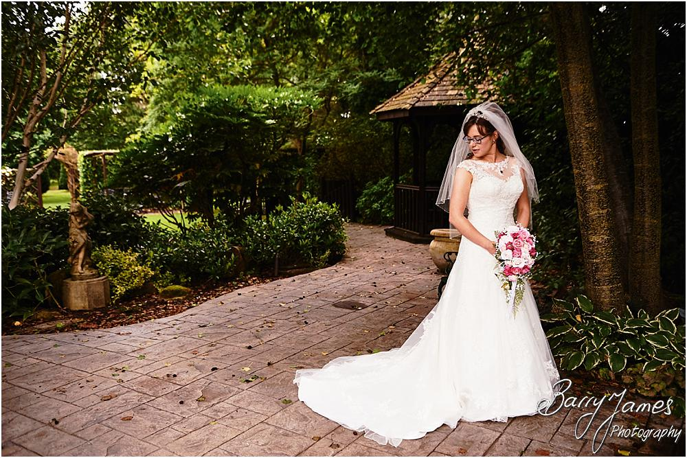 Creative contemorpary portraits around the stunning gardens at The Fairlawns in Walsall by Walsall Wedding Photographer Barry James