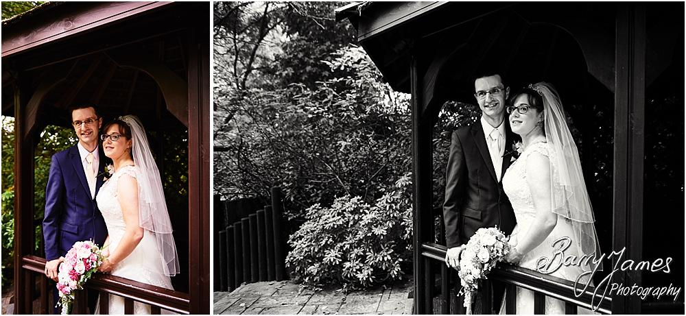 Relaxed elegant portraits of the bride and groom around the grounds of The Fairlawns in Walsall by Walsall Wedding Photographer Barry James