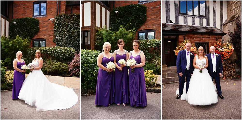 Contemporary portraits of the bridal party at Acton Trussell by Stafford Wedding Photographer Barry James