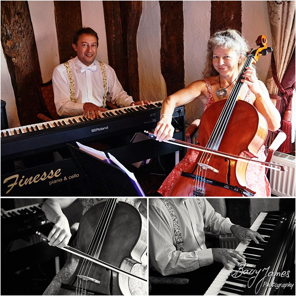 Beautiful live music from Finesse Piano + Cello at Acton Trussell by Stafford Wedding Photographer Barry James