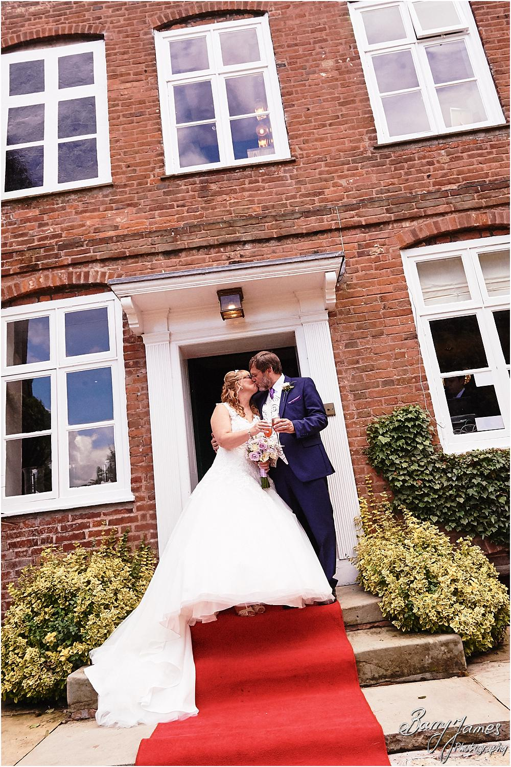 Creative photographs on the grand doorway at Acton Trussell by Stafford Wedding Photographer Barry James