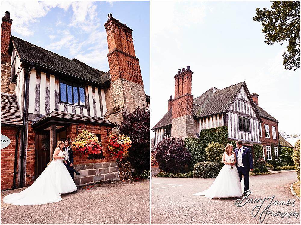 Creative portraits of the bride and groom at Acton Trussell by Stafford Wedding Photographer Barry James