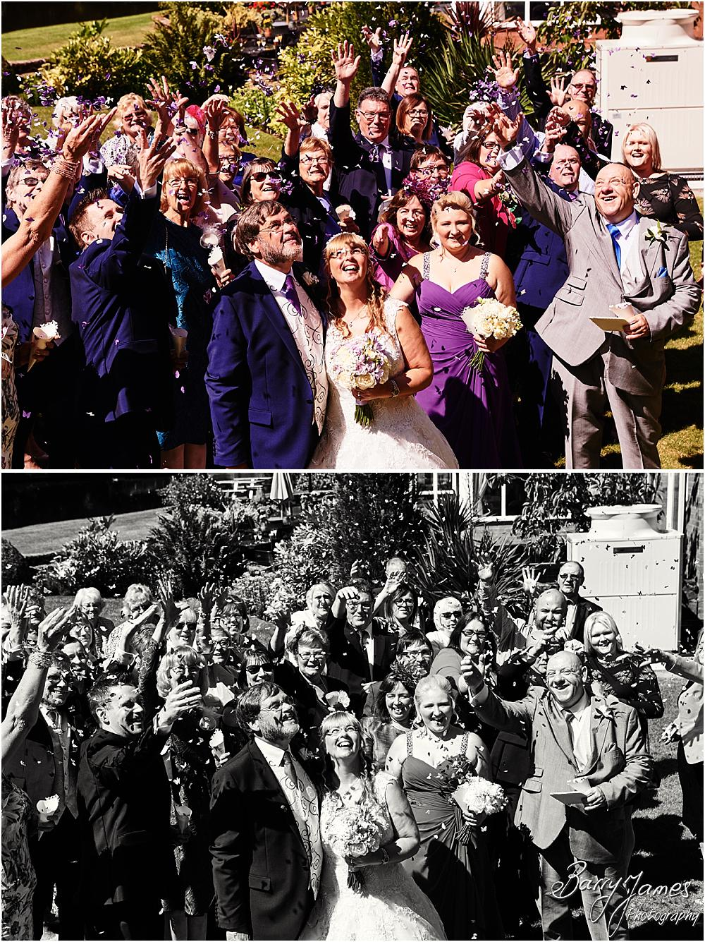 Canalside portraits of the wedding party at Acton Trussell by Stafford Wedding Photographer Barry James