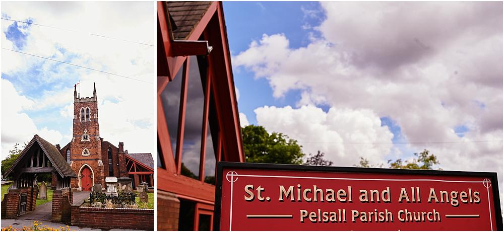 Gorgeous wedding photographs at St Michaels Church in Pelsall by Walsall Wedding Photographer Barry James