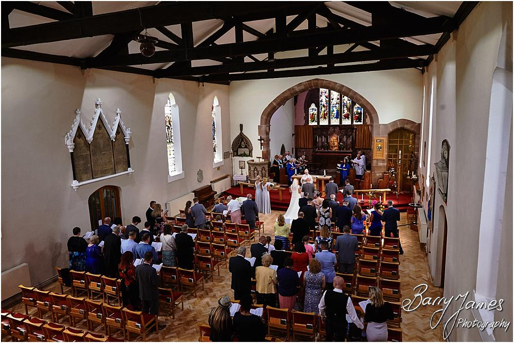 Capturing the wedding ceremony with totally unobtrusive photography at St Michaels Church in Pelsall by Walsall Wedding Photographer Barry James