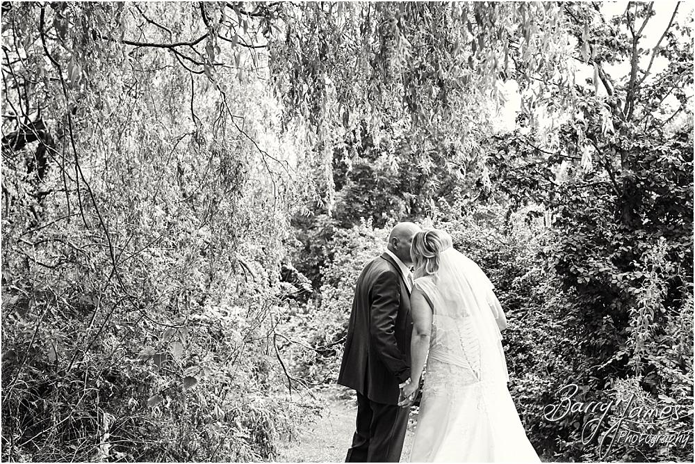 Contemporary and relaxed portraits in the beautiful grounds at Calderfields in Walsall by Walsall Wedding Photographer Barry James