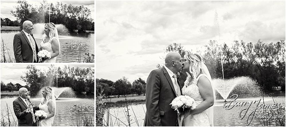 Stunning lakeside portraits of the Bride and Groom at Calderfields in Walsall by Walsall Wedding Photographer Barry James