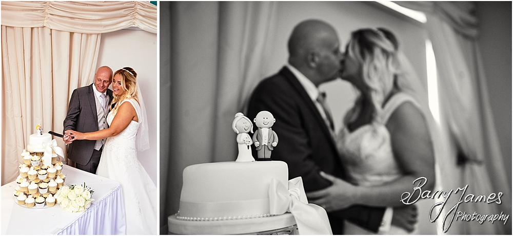 Cake cutting fun at Calderfields in Walsall by Walsall Wedding Photographer Barry James