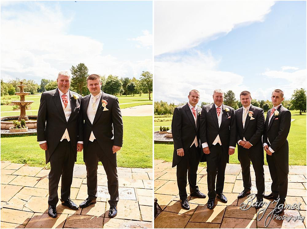 Relaxed contemporary photographs of the groomsmen at Calderfields in Walsall by Calderfields Wedding Photographer Barry James