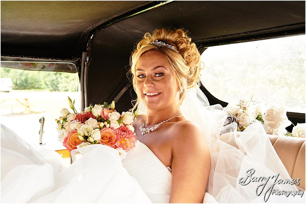 The bridal party arriving in style with Finishing Touch Cars at Calderfields in Walsall by Calderfields Wedding Photographer Barry James