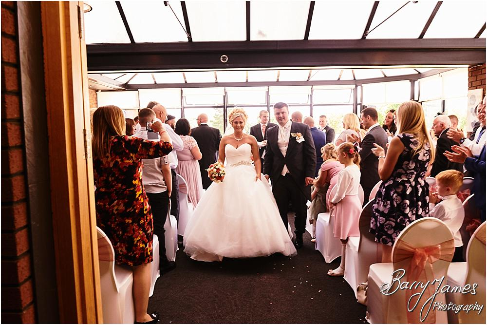 Two photographer coverage captures the beautiful wedding ceremony perfectly at Calderfields in Walsall by Calderfields Wedding Photographer Barry James