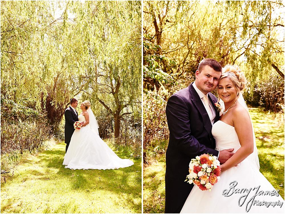 Creative elegant portraits in the fabulous woodland at Calderfields in Walsall by Calderfields Wedding Photographer Barry James