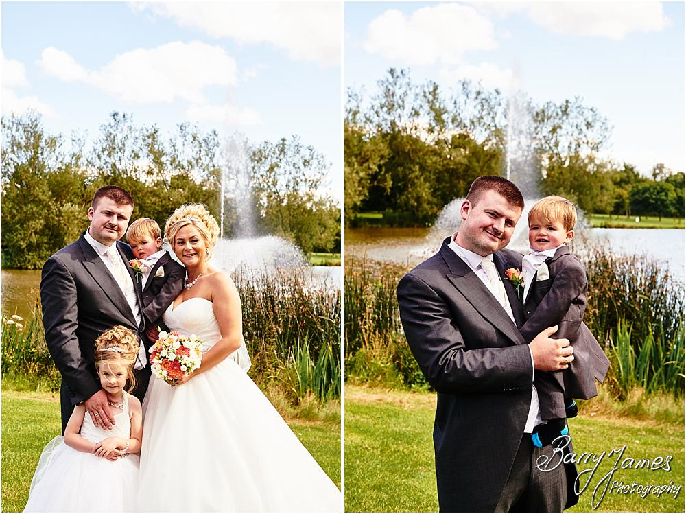 Relaxed family photographs of the Bride and Grooms children at Calderfields in Walsall by Calderfields Wedding Photographer Barry James