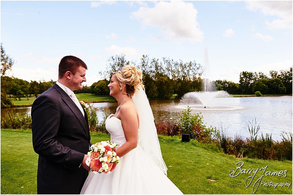Utilising the fabulous gardens at Calderfields in Walsall for creative portraits of the bride and groom with Calderfields Wedding Photographer Barry James