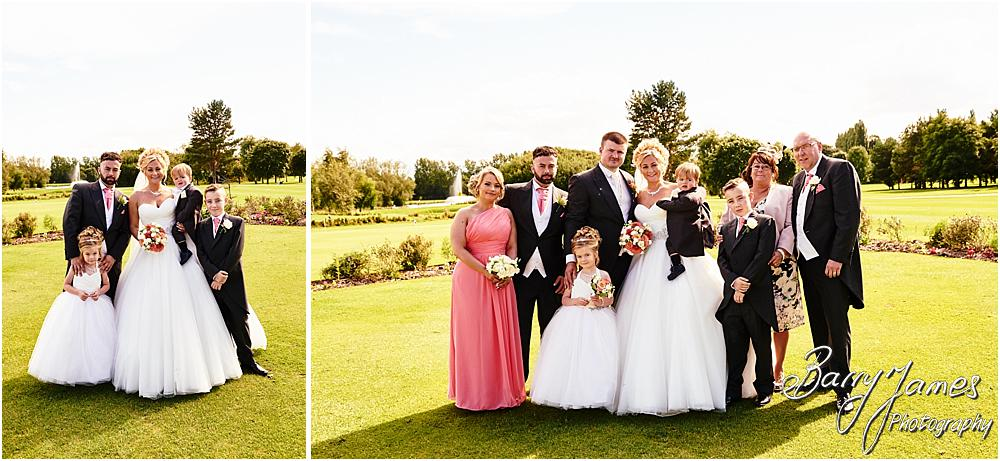 Relaxed family photographs on the stunning lawns at Calderfields in Walsall by Calderfields Wedding Photographer Barry James