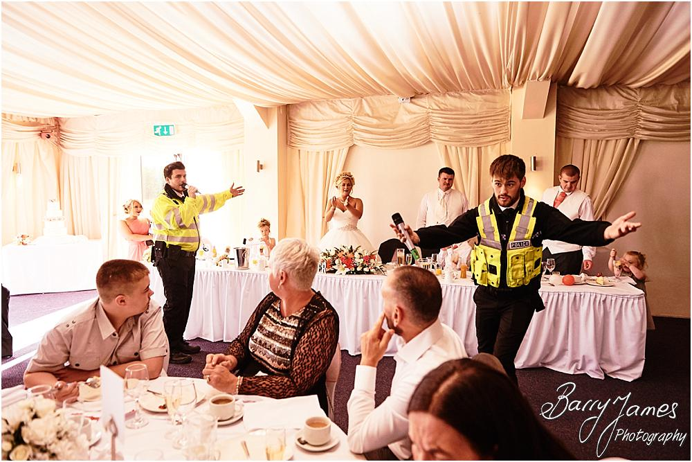 Afternoon entertainment with singing policemen at Calderfields in Walsall by Calderfields Wedding Photographer Barry James