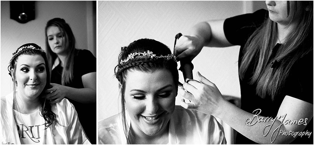 Candid photos of the bridal preparations at Chateau Impney at Droitwich by Wedding Photographer Barry James