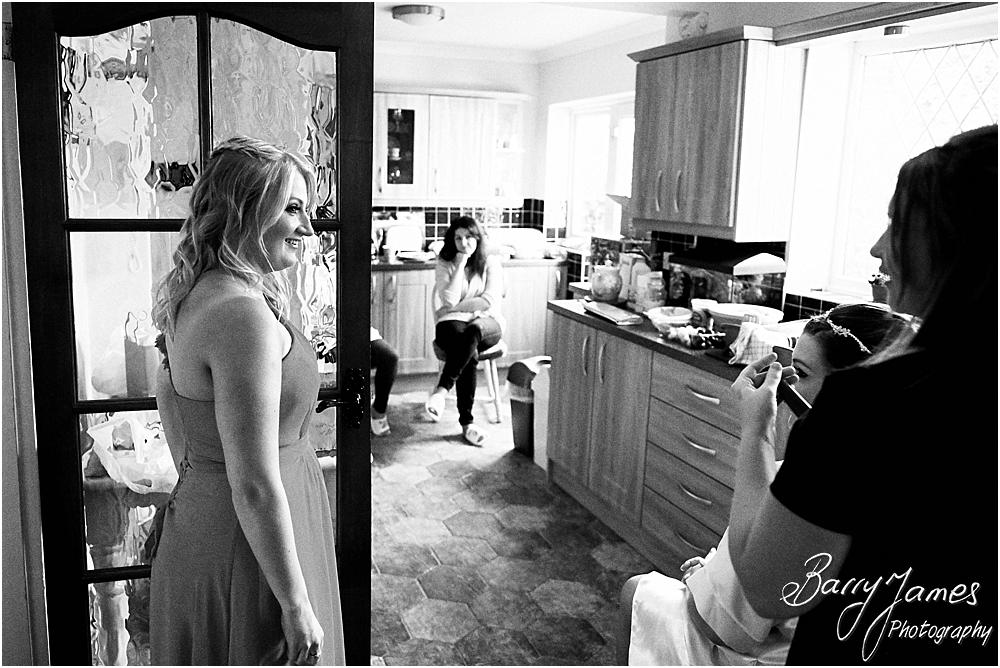 Creative candid wedding photographs of the wedding morning before the day at Chateau Impney at Droitwich by Wedding Photographer Barry James