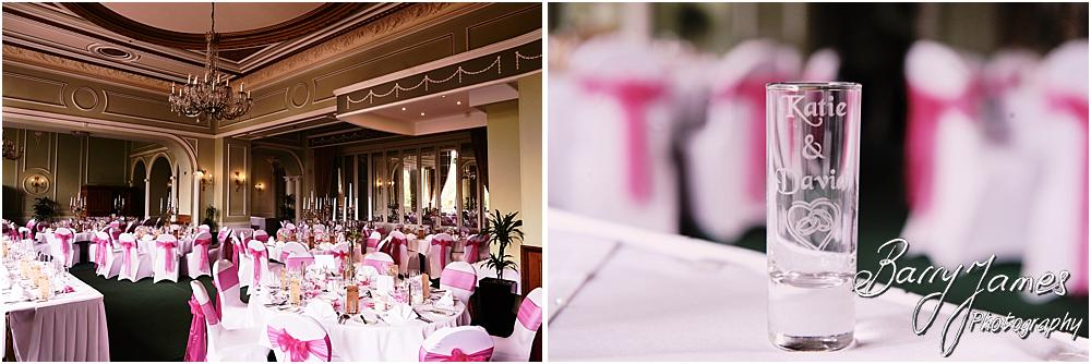 Fabulous detailing for the wedding breakfast at Chateau Impney at Droitwich by Wedding Photographer Barry James